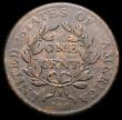 London Coins : A164 : Lot 552 : USA One Cent 1802 Ten Berries, Stemless wreath Breen 1750 Fine with uneven toning, scarce