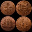 London Coins : A164 : Lot 593 : Halfpennies 18th Century (3)  Kent - Deal 1794 Obverse: Man of war sailing/Reverse: Shield of Arms o...