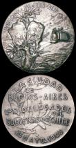 London Coins : A164 : Lot 647 : Argentina delegates with the Government of Chile (2) 25 May 1903 57mm diameter both in silvered copp...