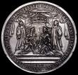 London Coins : A164 : Lot 665 : Coronation of William and Mary 1689 53mm diameter by G.Bower, Eimer 310b the cast issue, Obverse: GV...