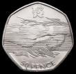 London Coins : A164 : Lot 67 : Fifty Pence 2011 Aquatic S.4962A the swimmer with the waves over the face, only very few examples kn...
