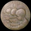 London Coins : A164 : Lot 674 : France, Oeuvre de La Soupe 1917 70mm diameter in bronze by G.Petit 1917 Obverse Mother and Child sea...