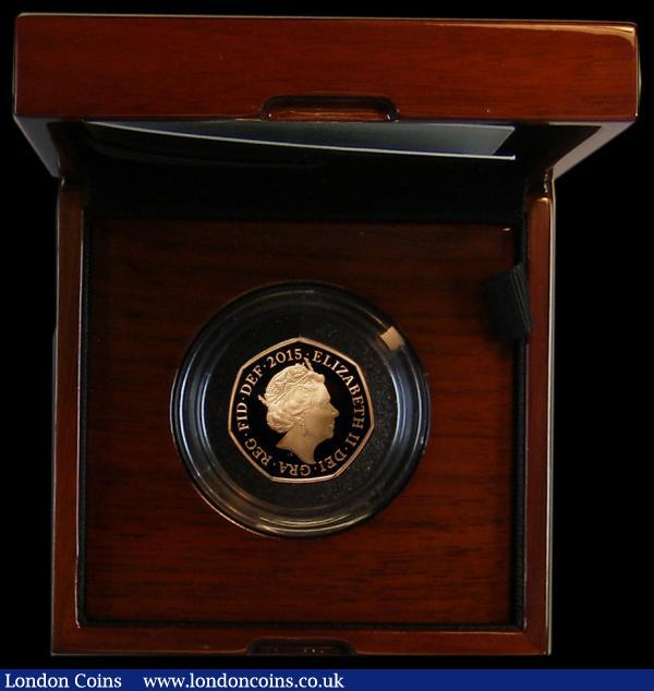 Fifty Pence 2015 75th Anniversary of the Battle of Britain S.H31 nFDC with a hint of toning, in the Royal Mint box of issue with certificate : English Cased : Auction 164 : Lot 69