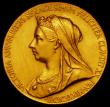 London Coins : A164 : Lot 716 : Queen Victoria Diamond Jubilee 1897 26mm diameter in gold, the official Royal Mint issue, Eimer 1817...