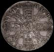 London Coins : A164 : Lot 881 : Crown 1691 I over E in GVLIELMVS, also with re-entered G in GVLIELMVS, the 6 of the date double-stru...