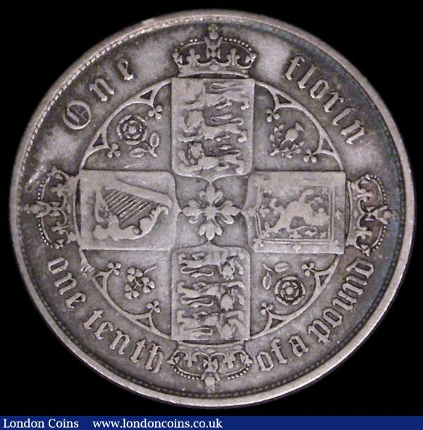 Florin 1854 ESC 811A, Bull 2829 About Fine, all major details clear , a very collectable example of this rare date : English Coins : Auction 164 : Lot 978