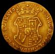 London Coins : A164 : Lot 997 : Guinea 1689 Elephant and Castle G of REGINA struck over an E S.3427 Fine, Ex-Jewellery, 7.18 grammes...