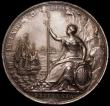 London Coins : A165 : Lot 1381 : Peace of Breda 1667 56mm diameter in silver by J.Roettier, Eimer 241 Obverse Bust right, laureate, R...