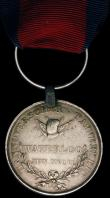 London Coins : A165 : Lot 1403 : Hanoverian Medal for Waterloo 1815 awarded to Soldat Ludwig Schnat, Landwehr Battalion, Hameln. VF w...