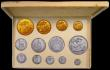 London Coins : A165 : Lot 1604 : Proof Set 1902 Long Set Matt Proof comprising Gold £5, Gold £2, Sovereign, Half Sovereig...