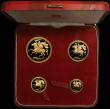 London Coins : A165 : Lot 1887 : Isle of Man 1973 Gold Proof Set a 4-coin set comprising Five Pounds, Two Pounds, Sovereign and Half ...