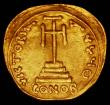London Coins : A165 : Lot 1987 : Byzantine Gold Solidus, Revolt of the Heraclii (608-610 AD), Obverse: Heraclius and Exarch Heraclius...