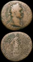 London Coins : A165 : Lot 1996 : Roman (3) Dupondis Titus struck 77AD under Vespasian Obverse: T CAES IMP AVGF TR P COS VI CENSOR, Re...