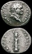 London Coins : A165 : Lot 2041 : Roman Denarii (3) Vespasian (69-79AD) 79AD. Obverse: Laureate head right, IMP CAESAR VESPASIANVS AVG...
