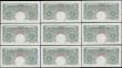 London Coins : A165 : Lot 206 : One pound Beale B268 (9) issued 1950, a consecutively numbered run series N45C 751155 to N45C 751163...