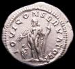 London Coins : A165 : Lot 2071 : Roman Denarius Macrinus (217-218AD) Obverse: Bust right, laureate and cuirassed, IMP C M OPEL SEV MA...