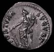 London Coins : A165 : Lot 2076 : Roman Denarius Nerva (Jan to Sept 97AD.) Obverse: Laureate head right NERVA CAES AVG PM TR P COS III...