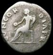 London Coins : A165 : Lot 2084 : Roman Denarius Vitellius (69AD) Obverse: Bust right, laureate, A VITELLIVS GERM IMP TR P, Reverse: C...