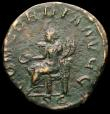 London Coins : A165 : Lot 2107 : Roman Sestertius Otacilia Severa (244-249AD) Obverse: Bust right, draped MARCIA OTACIL SEVERA AVG, R...