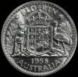 London Coins : A165 : Lot 2122 : Australia Florin 1958 Proof KM#60 in a PCGS holder and graded PR66