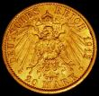 London Coins : A165 : Lot 2185 : German States - Prussia 20 Marks Gold 1913A KM#521 A/UNC and lustrous