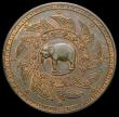 London Coins : A165 : Lot 2295 : Thailand Baht undated Pattern (1868) in copper KM#Pn28 Milled edge, 13.68 grammes, GEF or slightly b...