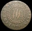 London Coins : A165 : Lot 2331 : USA Halfpenny 1785 CONSTELLATIO NOVA Pointed rays, Narrow 5, Breen 1111, 6.42 grammes, Near Fine on ...