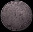London Coins : A165 : Lot 2389 : Crown Commonwealth 1656 the last 6 completely double struck and appearing as 16566, ESC 8, Bull 10 V...