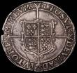London Coins : A165 : Lot 2391 : Crown Elizabeth I Seventh Issue S.2582 (1601) mintmark 1 , an edge chip at 2 o'clock and a flan...