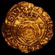 London Coins : A165 : Lot 2396 : Gold Halfcrown Henry VIII HK uncrowned on both sides S.2286, the mintmark not visible, Near Fine wit...