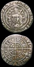 London Coins : A165 : Lot 2398 : Groat Edward III Fourth Coinage 1351-1377 S.1565, R with wedge-shaped tail, mintmark Cross 1 VG or b...