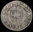 London Coins : A165 : Lot 2458 : Shilling Edward VI Fine Silver issue S.2482 mintmark Tun VG/Near Fine with scratches on the obverse