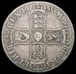 London Coins : A165 : Lot 2501 : Crown 1688 QVARTO ESC 80, Bull 746 VG/Near Fine the reverse with an II - shaped scratch in the field