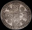 London Coins : A165 : Lot 2513 : Crown 1734 Roses and Plumes ESC 119, Bull 1662 Good Fine with two gentle edge bruises