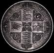 London Coins : A165 : Lot 2527 : Crown 1847 Gothic UNDECIMO ESC 288, Bull 2571, Near EF/EF with two gentle edge bruises and  some hai...