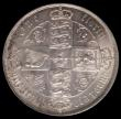 London Coins : A165 : Lot 2584 : Florin 1872 ESC 840, Bull 2878, Davies 756 dies 3B Top Cross overlaps border beads on reverse, Die N...