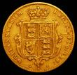 London Coins : A165 : Lot 2659 : Half Sovereign 1863 Marsh 439, S.3860, Die Number 4 Fine, Rare