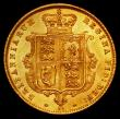 London Coins : A165 : Lot 2667 : Half Sovereign 1873 Marsh 448, Die Number 24, EF/GEF and lustrous
