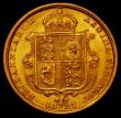 London Coins : A165 : Lot 2678 : Half Sovereign 1887 Jubilee Head, No J.E.B on truncation S.3869C NEF/EF with small rim nicks
