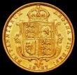 London Coins : A165 : Lot 2679 : Half Sovereign 1887M Jubilee Head, Small close J.E.B on truncation, S.3870A GVF