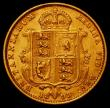 London Coins : A165 : Lot 2681 : Half Sovereign 1893 Jubilee Head, No J.E.B on truncation, S.3869D GF/NVF