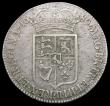 London Coins : A165 : Lot 2708 : Halfcrown 1689 First Shield, Caul only frosted, no pearls, as ESC 506, Bull 834 the E of REGNI appea...