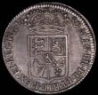 London Coins : A165 : Lot 2709 : Halfcrown 1689 First Shield, Caul only frosted, with pearls, ESC 505, Bull 831, About VF with grey t...