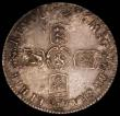 London Coins : A165 : Lot 2712 : Halfcrown 1696 Small Shields, ESC 534, Bull 1014 VF toned with some adjustment lines and some old sc...