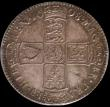 London Coins : A165 : Lot 2713 : Halfcrown 1698 DECIMO ESC 554, Bull 1034, GEF with old grey tone, in an LCGS holder and graded LCGS ...