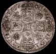 London Coins : A165 : Lot 2715 : Halfcrown 1706 Roses and Plumes ESC 572, Bull 1361, NVF with a pleasing old tone