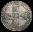 London Coins : A165 : Lot 2723 : Halfcrown 1713 Plain in angles DVODECIMO ESC 584, Bull 1376 VF/About VF with some adjustment lines, ...