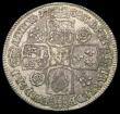 London Coins : A165 : Lot 2725 : Halfcrown 1732 Roses and Plumes ESC 117, Bull 1660 Good Fine with old toning