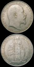 London Coins : A165 : Lot 2754 : Halfcrown 1902 ESC 746, Bull 3567 GEF/AU with a small edge nick, Florin 1902 ESC 919, Bull 3577 GEF ...