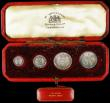 London Coins : A165 : Lot 2784 : Maundy Set 1698 ESC 2389, Bull 1305 comprising Fourpence 1698 MAG, Threepence 1698, Twopence 1698 ES...